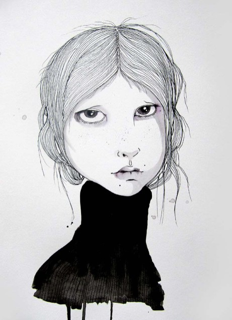 Marit 10.8 x 14.8 inches, pen-ink