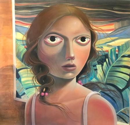 El Retorno, oil on wood, 48 x 48 inches, 2020