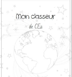 Page de garde du classeur de CE2