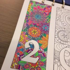 Première page de mon bullet journal coloriée.