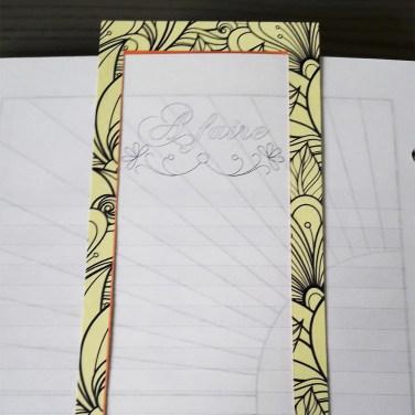 Verso du arque-page du scribe