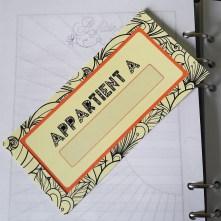 Verso du marque-page du scribe