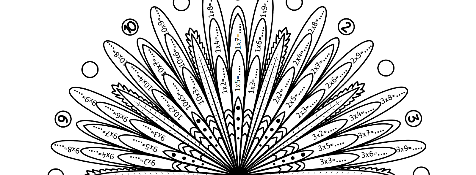 Mes Mandalas Des Tables De Multiplication La Taniere De Kyban