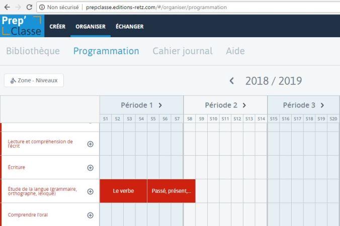 Programmation sur Prep'Class - éditions Retz