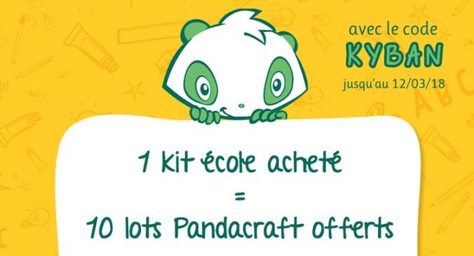Offre promotionnelle Pandacraft pour les kermesses