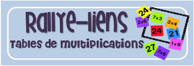 CPB rallye-lien - tables de multiplication
