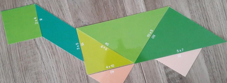 Tangram des multiplications - tortue