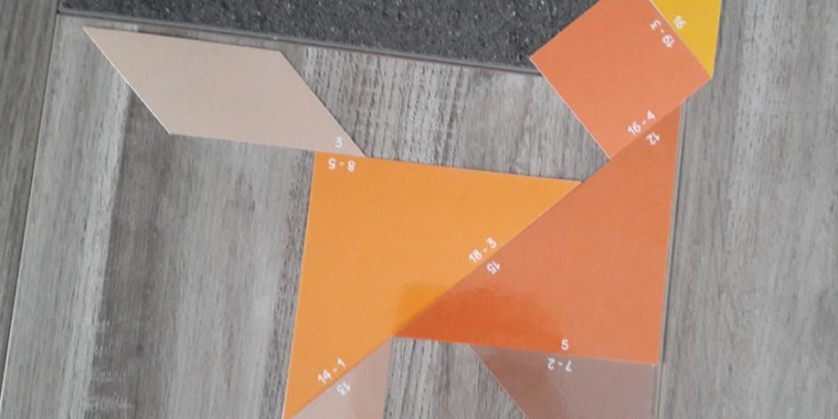 Tangram des soustractions - chien