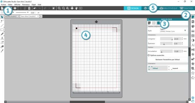 Silhouette studio - créer un fichier print and cut