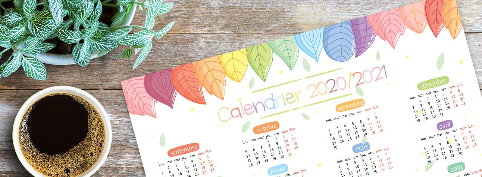 Un calendrier annuel 2020/2021   La tanière de Kyban