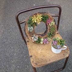 wreath & enamel cap