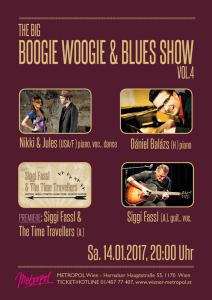 """Boogie Woogie & Blues Show"", Flyer + Plakat, 201"