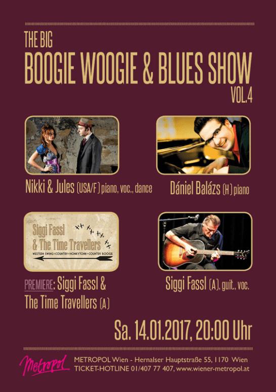 """""""Boogie Woogie & Blues Show"""", Flyer + Plakat, 201"""