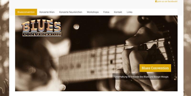 Du siehst einen Screenshot der Website www.bluesconvention.com