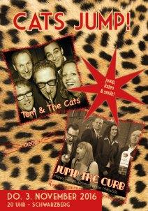 """""""Cats Jump"""" Flyer vorne, 2016"""