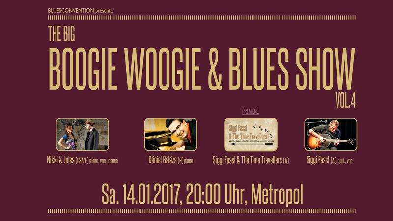 Slider der Boogie Woogie & Blues Show im Metropol