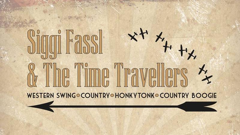 Schriftzug und Logo der Band Siggi Fassl & The Time Travellers