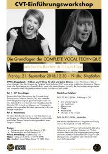 CVT Workshop Info mit Karin Bachner und Tanja Lipp