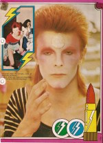 70's teen fashion magazines illustrate the Ziggy make-up technique