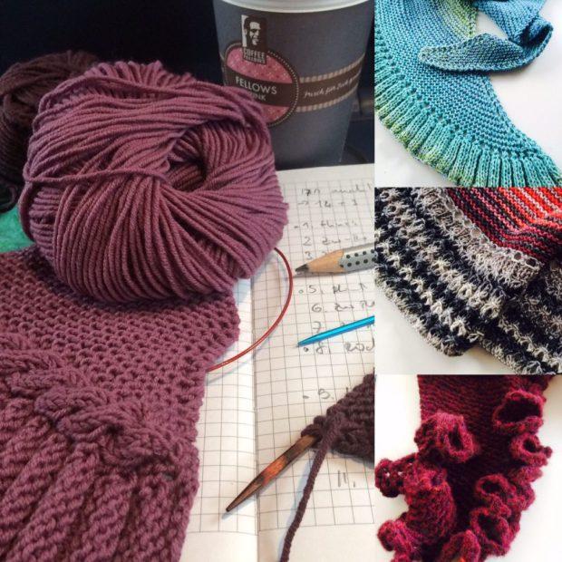 Tüchermix - Musterproben für neues Buchprojekt