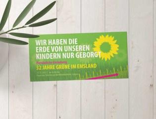 Grüne Emsland   Einladung Jubiläum