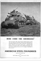 Here come the Shermans! American Foundry