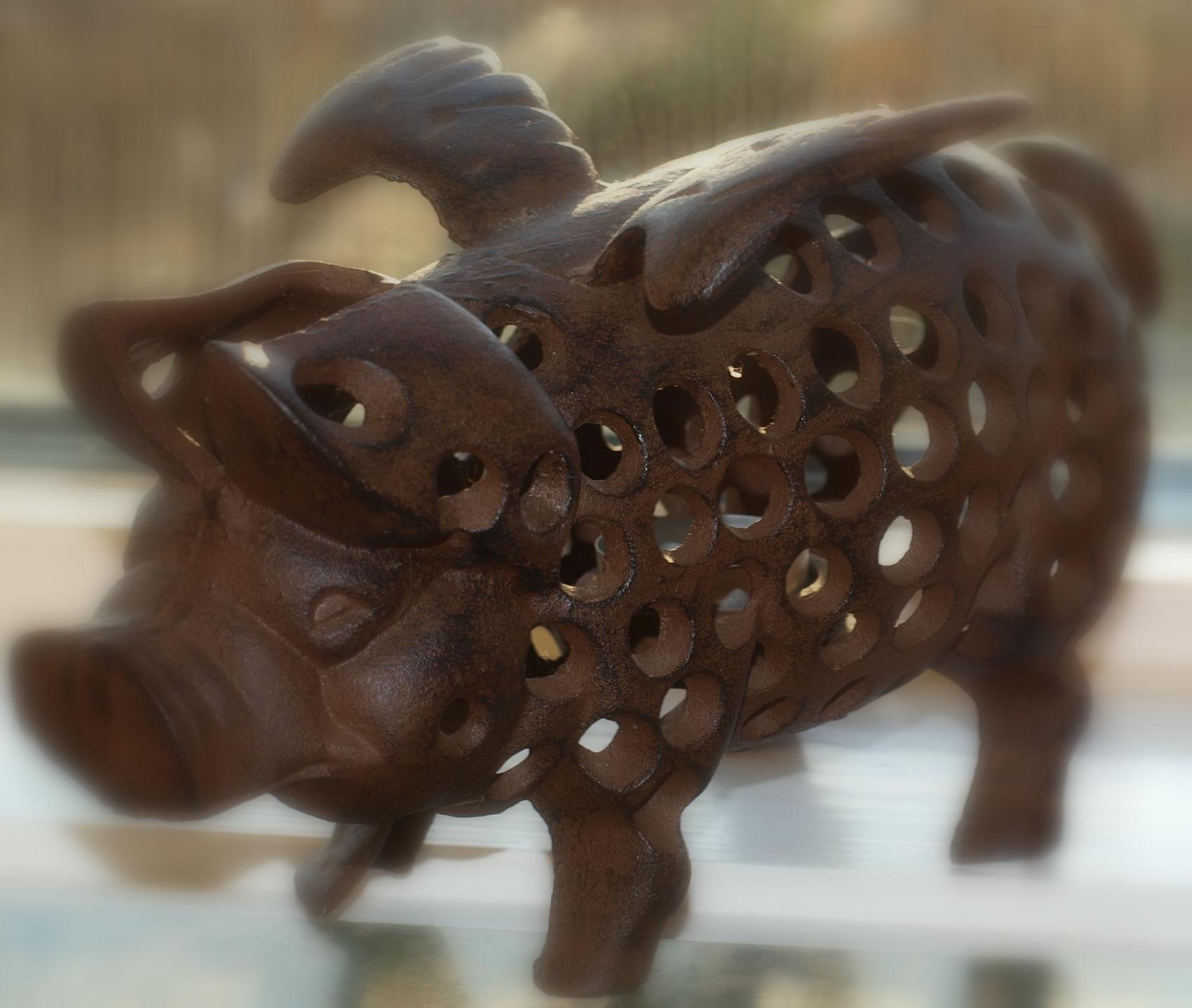 Visst kan en gris ha vingar!