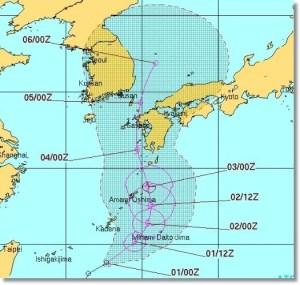 台風12号米軍