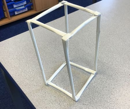 'We were investigating whether we could make a cuboid out of 12 straws.'