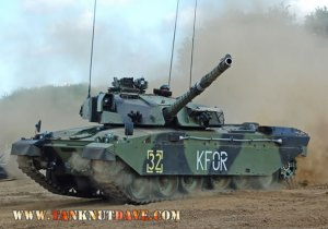 Challenger 1 with KFOR markings
