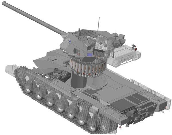 T-14 Armata Tank Autoloader Diagram