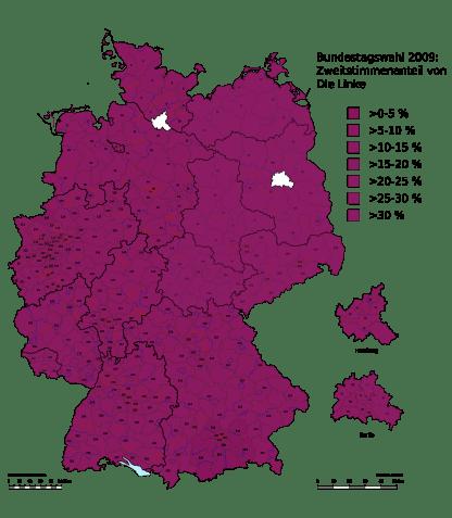 Valresultat Die Linke 2009