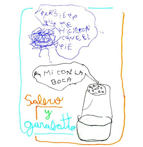 salero y garabatto_con el pie y la boca