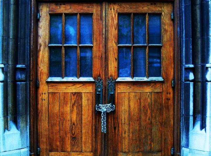 Door with Chains