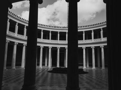 pillars in the coliseum