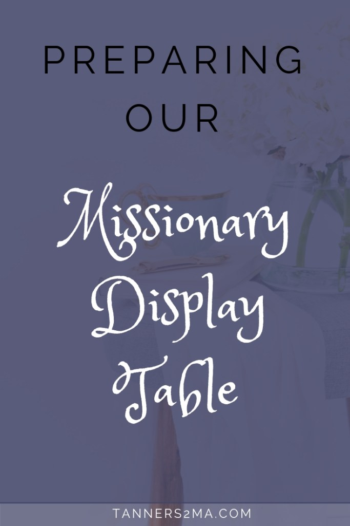 The Missionary Display Table is your first chance to make a good first impression. It answers basic questions about your ministry, and provides an interactive element. Here's how we decided what to include on ours. #missionarylife #missionarydispaly