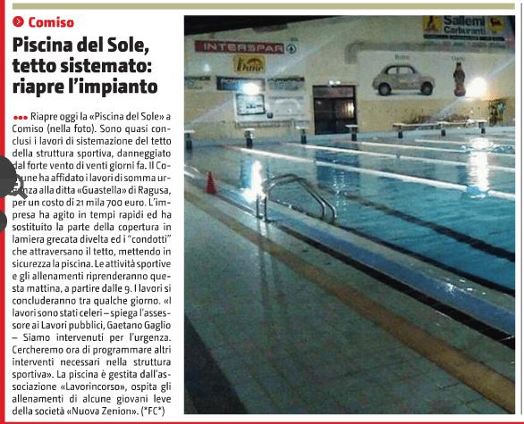 Dal giornale di Sicilia del 9 gennaio 2017