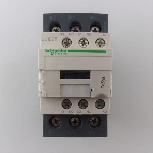 LC1D25F7-Contactor 3NO-1NO/1NC 110 Volt 25 Amp