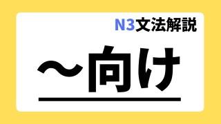 N3文法解説「~向け」