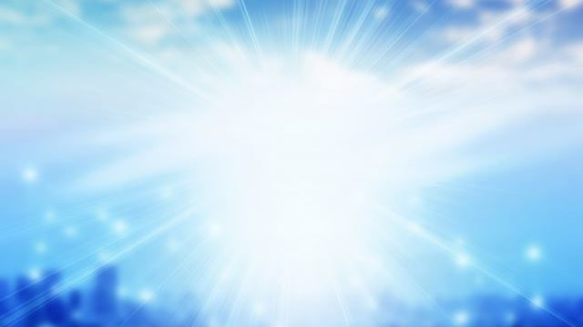 光っている空