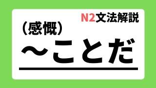 N2文法解説「~ことだ」(感慨)