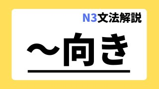 N3文法解説「~向き」