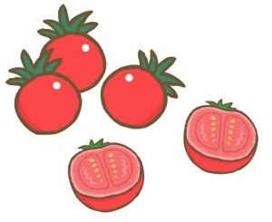 半分にカットしたトマト