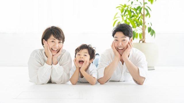 笑っている家族