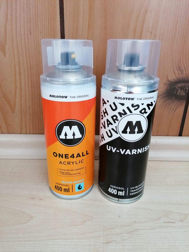 Molotow Acrylspray und UV-Varnish