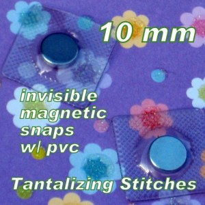 10mm hidden magnetic snaps with PVC