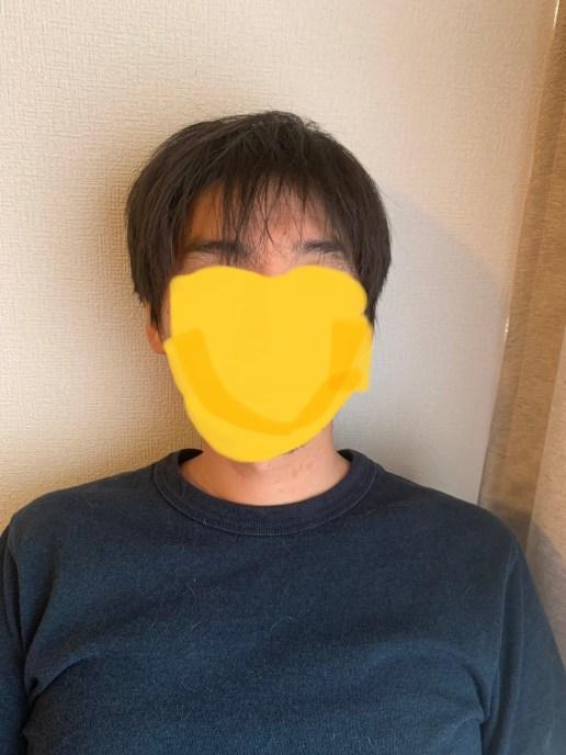 湯シャンをしている男性の髪の毛