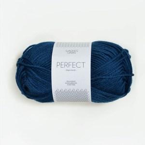 Garnnøgle fra Sandnes Perfect Inkblå 6063