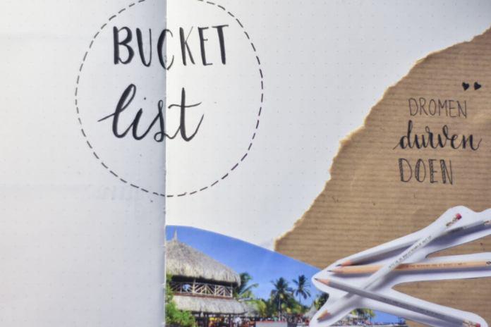 Bullet journal setup voor 2019 bucket list