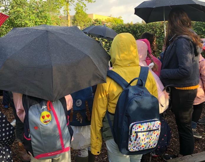 Een droom komt uit helpen bij de schooltuinen